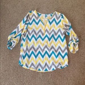 3/4 Zippered Blouse